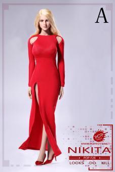 Weibliches Outfit Bodysuit und Rock 1/6 Pink
