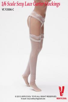 Garter Lace Stockings with Briefs white