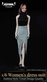 Weibliches Outfit Bodysuit und Rock 1/6 Black