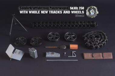 SDKFZ 250 in Metal Grau in 1/6