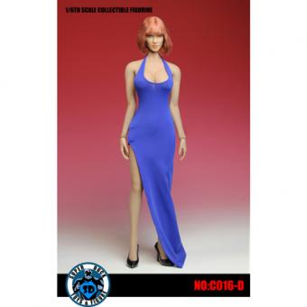 Female Sexy Dress Set (Blau) 1/6