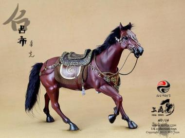 Pferd,  Echthaar braun mit Sattel