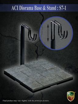 Actionfiguren Ständer Y-Form mit Strassen Base