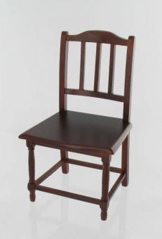 Stuhl, braunes Holz dunkel
