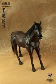 Pferd, Galoppierend mit Echthaar braun