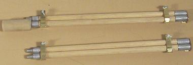 Reinigungsrohradapter 1/6 mit Holzteile!