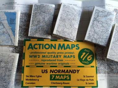 1/6 US maps Normandie 7 Maps