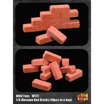 Wild Toys WT27 Diorama Red Bricks - 10pcs per set (1:6)