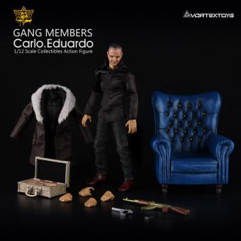 ID:Carlo - Eduardo 1/12 Fully articulated BLUE Sofa