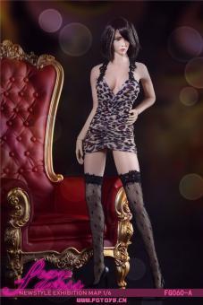 Leoparden Kleid Fire Girl A Set im Maßstab 1:6