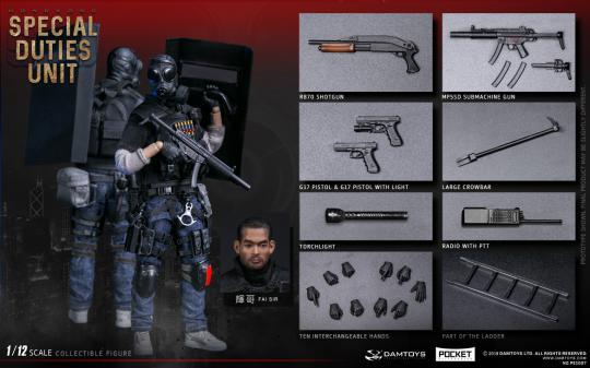 1/12 Pocket Elite Series - Hong Kong SDU (SAM SIR)