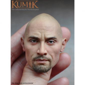 Kumik Male Head Dwayne Johnson Headsculpt 1/6