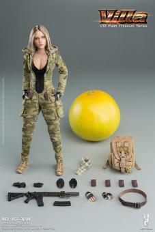 1/12 MC Camouflage Women Soldier- Villa