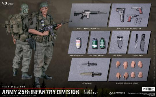 1/12 Barnes ARMY 25th Infantry Division Private WITH M79 GRENADE LAUNCHER