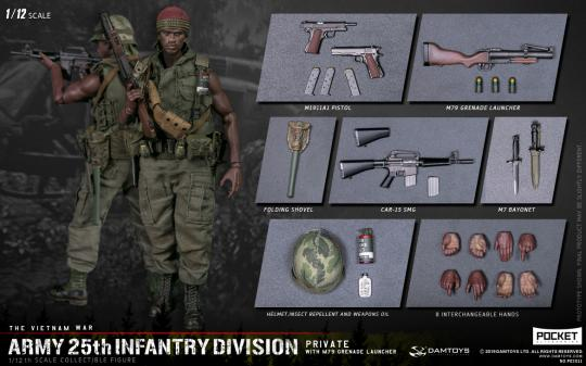 1/12 Big Harrold ARMY 25th Infantry Division Private WITH M79 GRENADE LAUNCHER