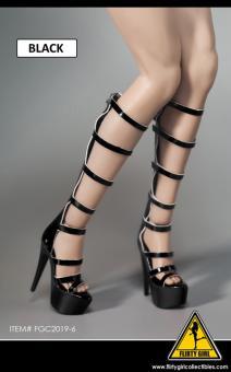 1/6 Female Heeled Boots (black) im Maßstab 1:6