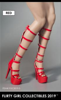 1/6 Female Heeled Boots (red) im Maßstab 1:6