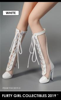 1/6 Female Heeled Boots (white) im Maßstab 1:6