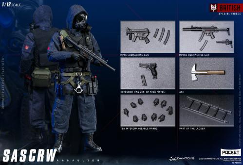 SAS CRW Assaulter  1/12 Fully articulated