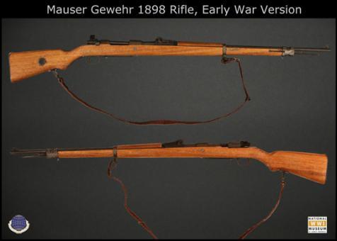 1/6 M1898 Mauser Gewehr in Metal und Holz mit Bayonet