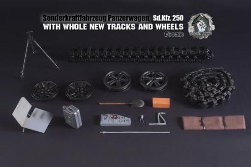 SDKFZ 250 in Metal Grau in 1/6