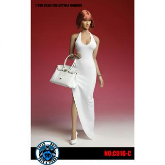 Female Sexy Dress Set (White) 1/6