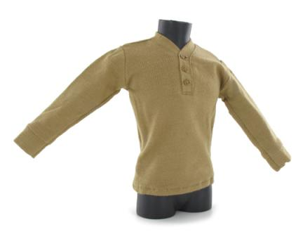 3 Buttons Sweater (Tan)  1/6