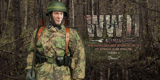 Dennis - Radio Operator - 20. Waffen Division  - Figure in 1:6 scale