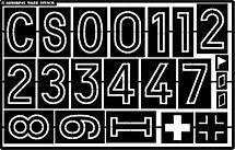 Fahrzeug Panzer Beschriftung 1/6 Schablone