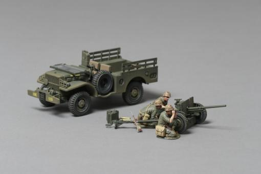 Dodge Jeep with 37mm Cannon & Crew 1/30