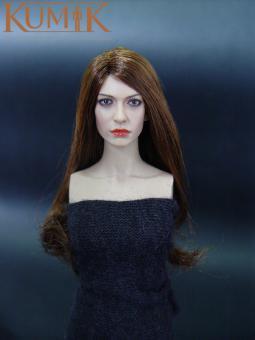 KM035 female Head Ann (with implanted hair)