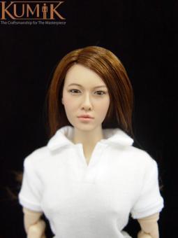 Kumik Asian Female Headsculpt KM007 (with implanted hair) k086