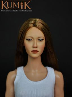 Kumik Asian Female Headsculpt KM007NP (with implanted hair) k086