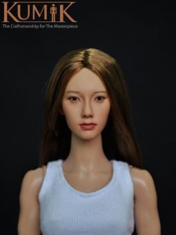 Kumik Asian Female Headsculpt KM008NP (with implanted hair) k086