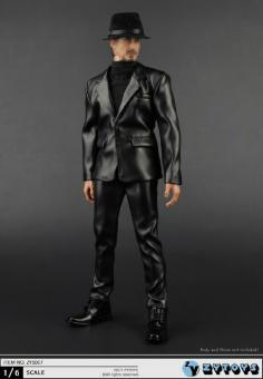 Balboa 1/6 Black Leather Coat Man Suit