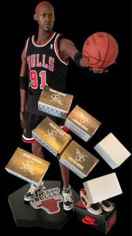 NBA Collection - Rodman and 7 Shoe Set 1/6
