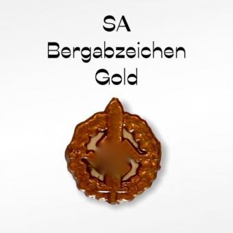 Bergabzeichen gold 1/6 in Kunststoff
