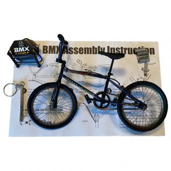 BMX Fahrrad in Metal 1/6