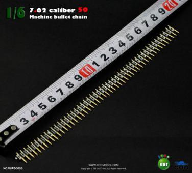 7,62 Caliber 20 Gurt metal, 20 Bullets Gurt metal