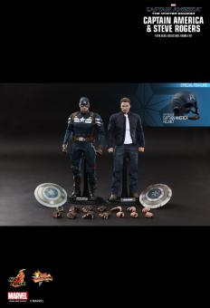 Captain America & Steve Rogers - 1/6th scale Collectible Figures Set