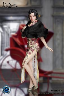 Cheongsam Dress Set (Beige) 1/6
