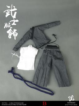 Costumes Of The Japanese Warring States Warriors Set (Grey)