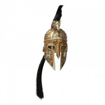 Diecast Helmet Ares Kriegsgott Helm (Gold) (1:6)