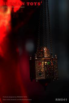 Metal Dracula Rote Lampe mit Led (Bronze)