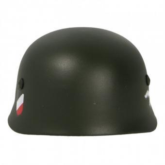 Fallschirmjäger Helm mit Abzeichen in Metal 1/6