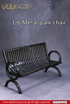 Parkbank in Metal schwarz 1/6