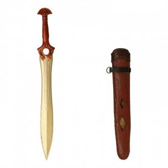 Diecast Sword with Leather Scabbard (Gold) (1:6)