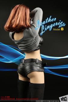 Female Leather Lingerie Set (Black) 1/6