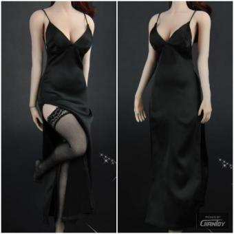 Female Sexy Dress Set (Black) 1/6