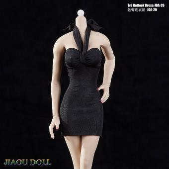 1/6 Female Buttock Dress (Black)